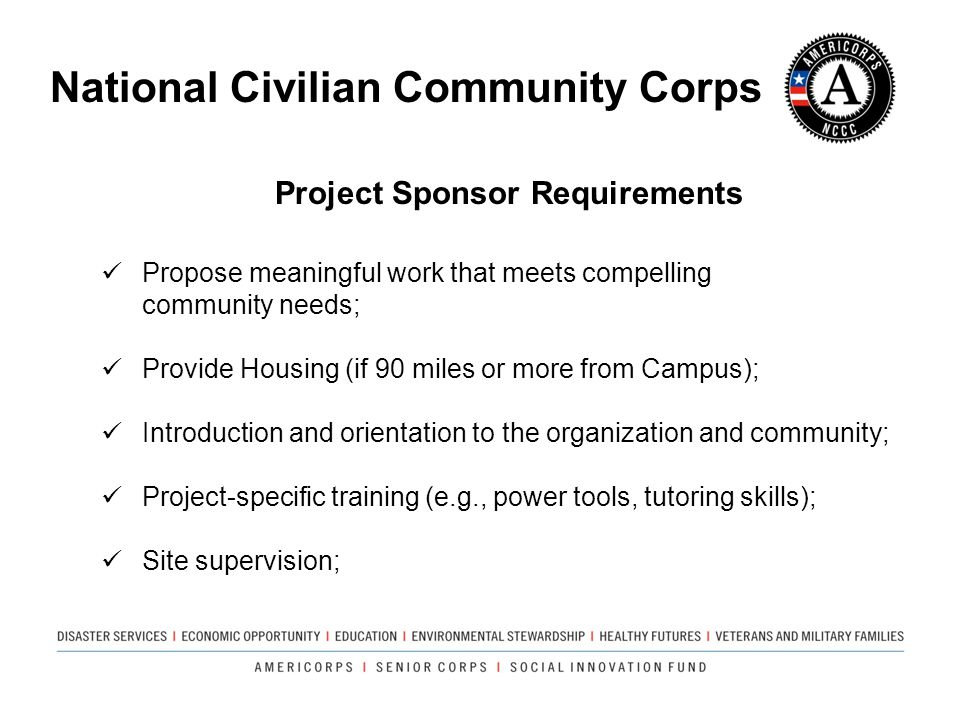 Project Sponsor Requirements