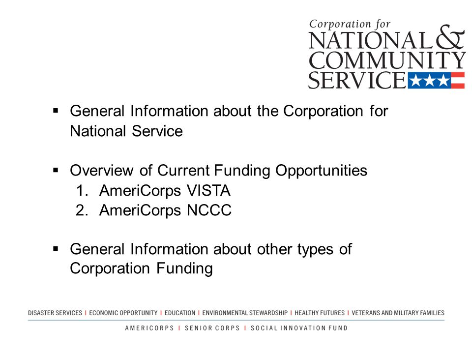 General Information about the Corporation for National Service