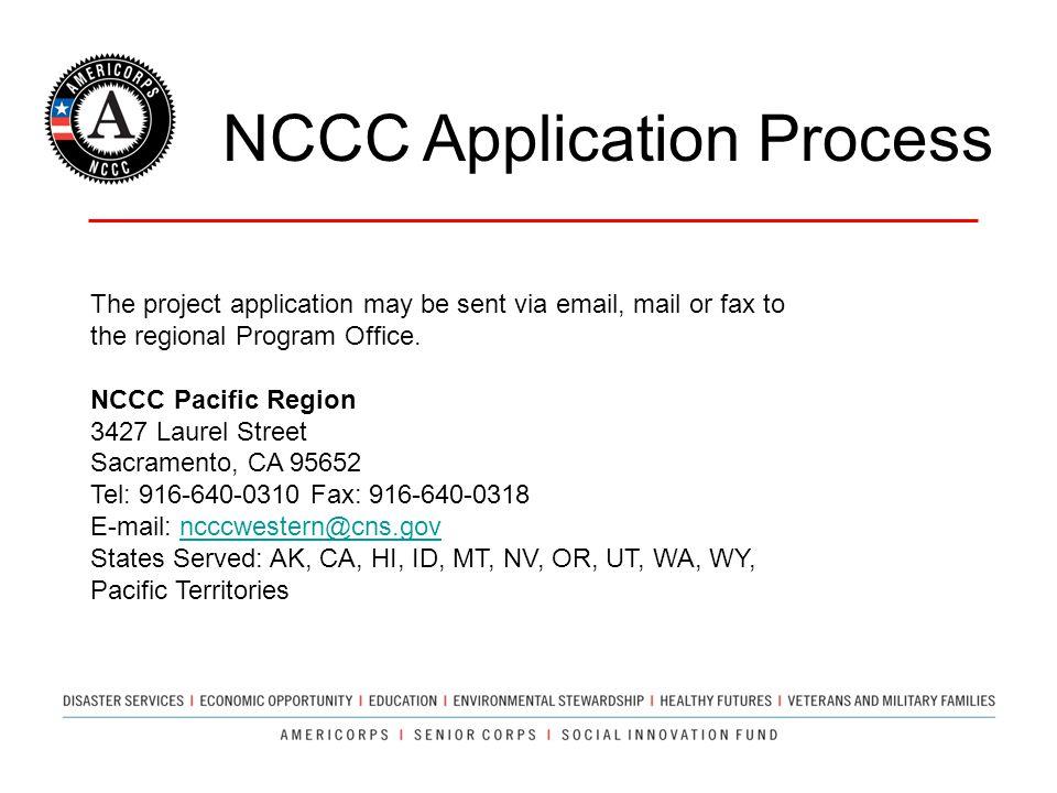 NCCC Application Process