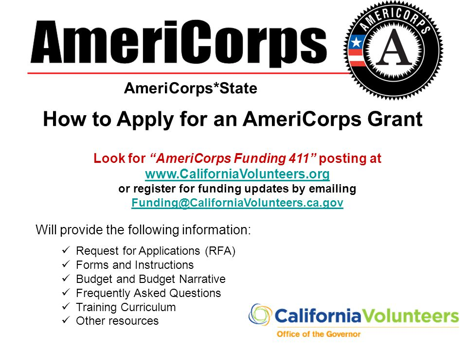 How to Apply for an AmeriCorps Grant