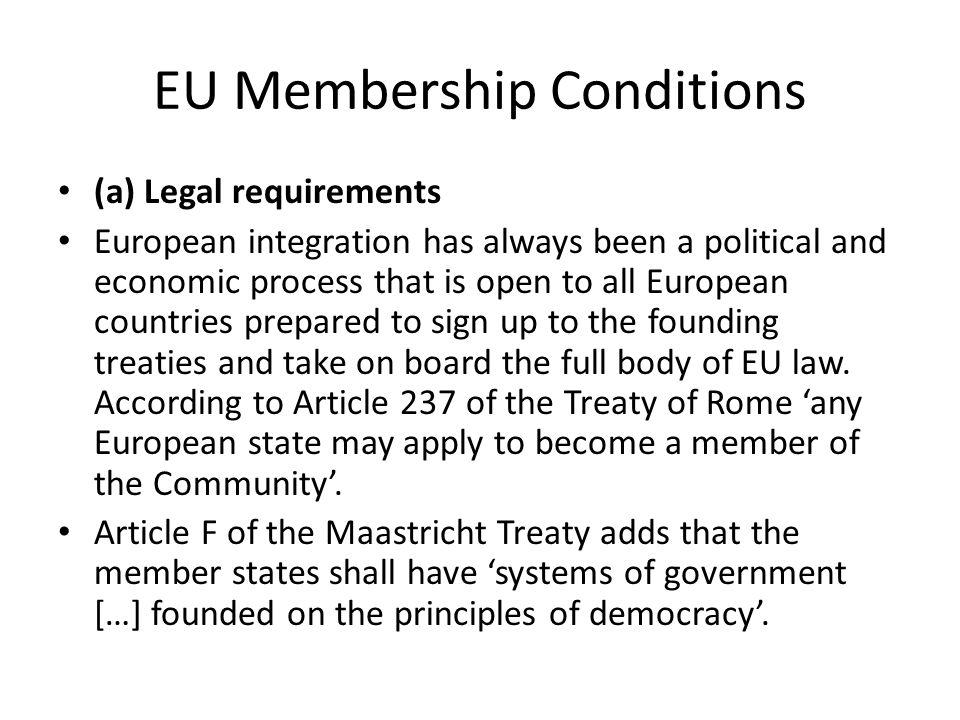 EU Membership Conditions
