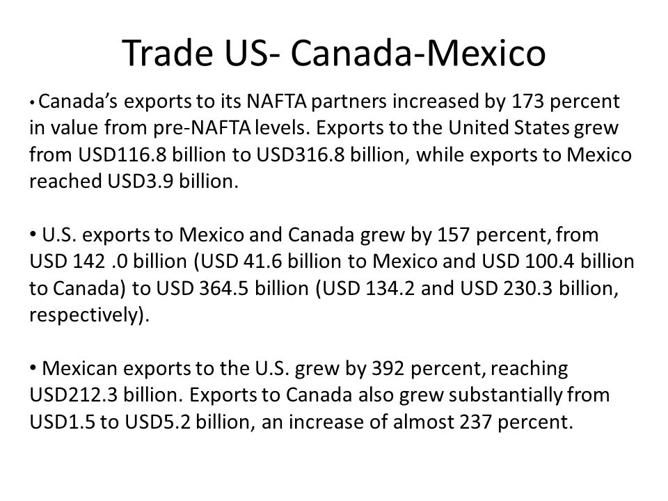 Trade US- Canada-Mexico