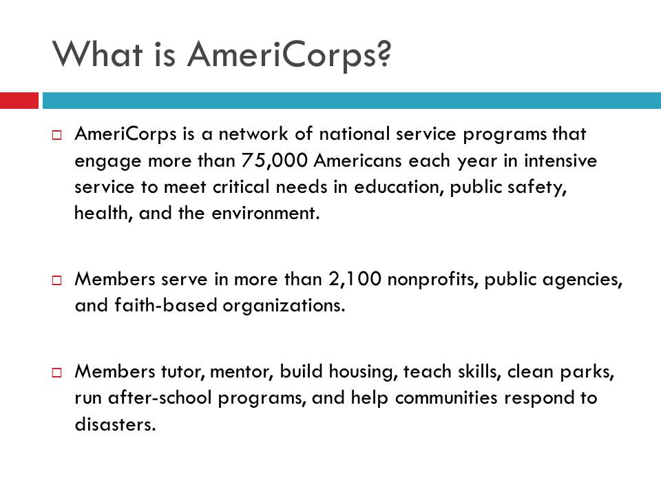 What is AmeriCorps