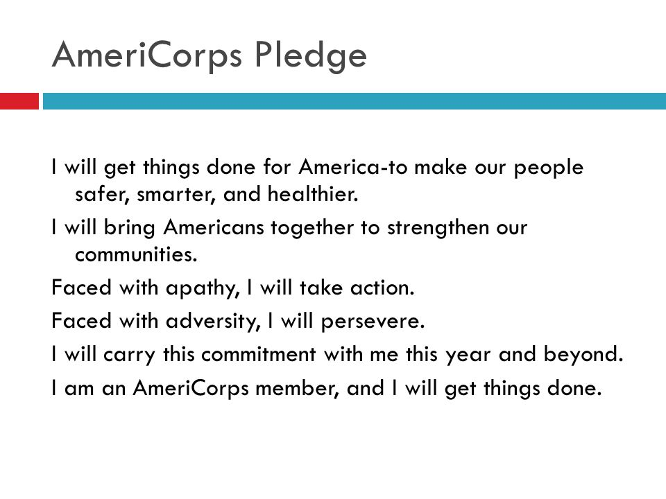 AmeriCorps Pledge