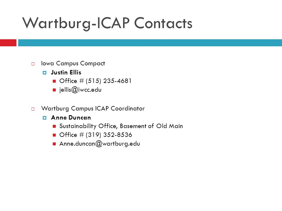 Wartburg-ICAP Contacts