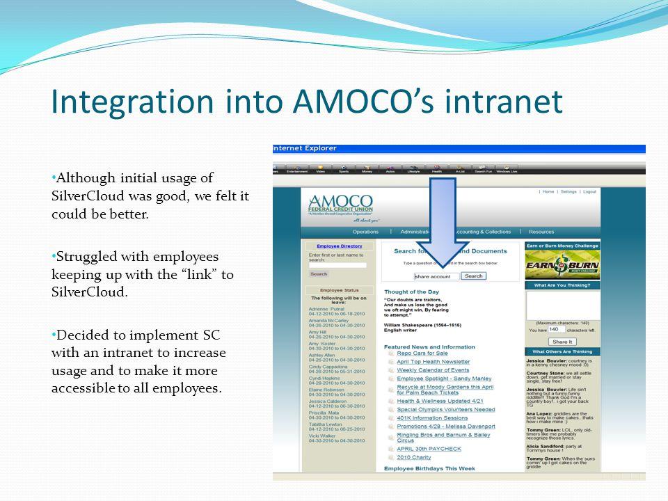 Integration into AMOCO's intranet