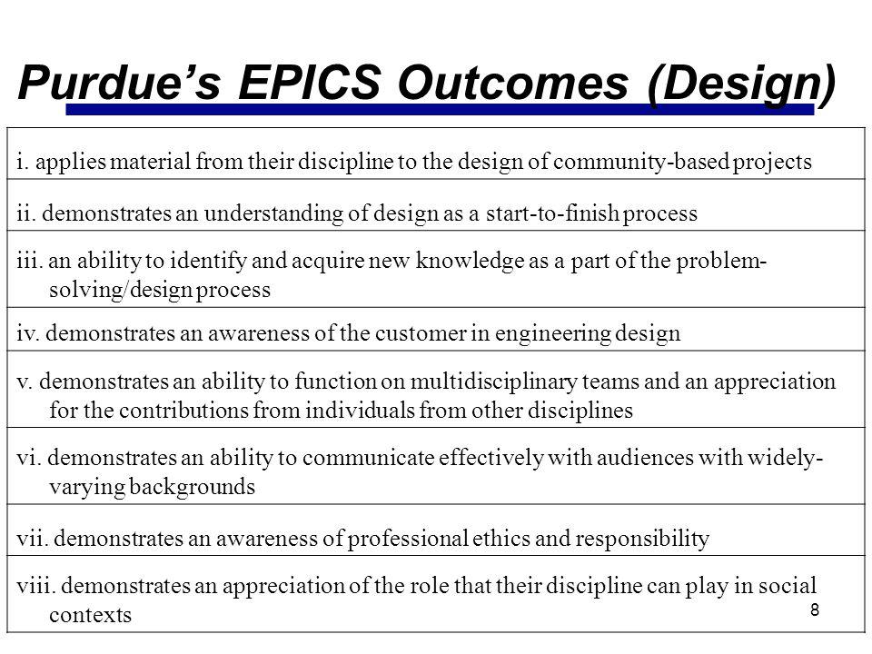 Purdue's EPICS Outcomes (Design)