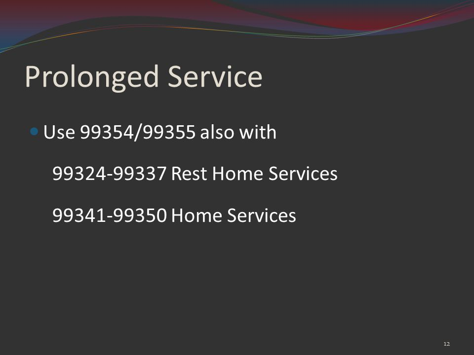 Prolonged Service Use 99354/99355 also with