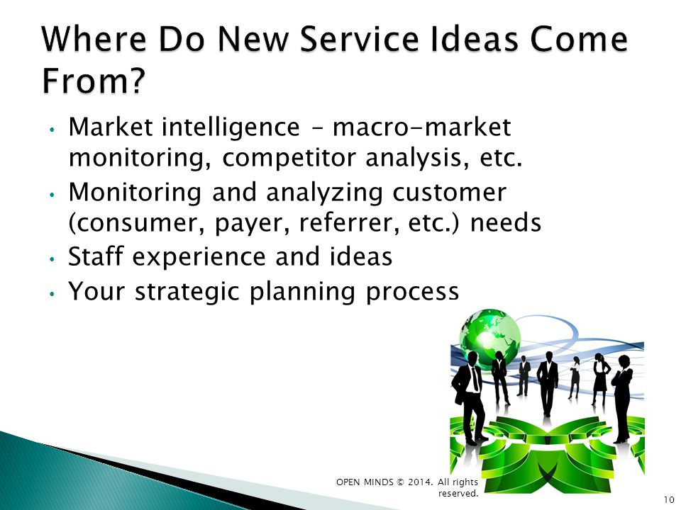 Where Do New Service Ideas Come From