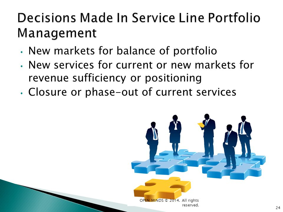 Decisions Made In Service Line Portfolio Management