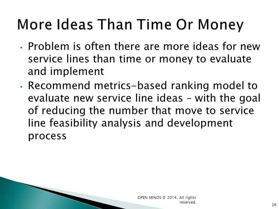 More Ideas Than Time Or Money