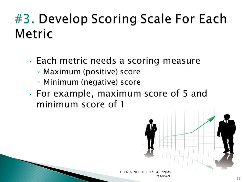 #3. Develop Scoring Scale For Each Metric