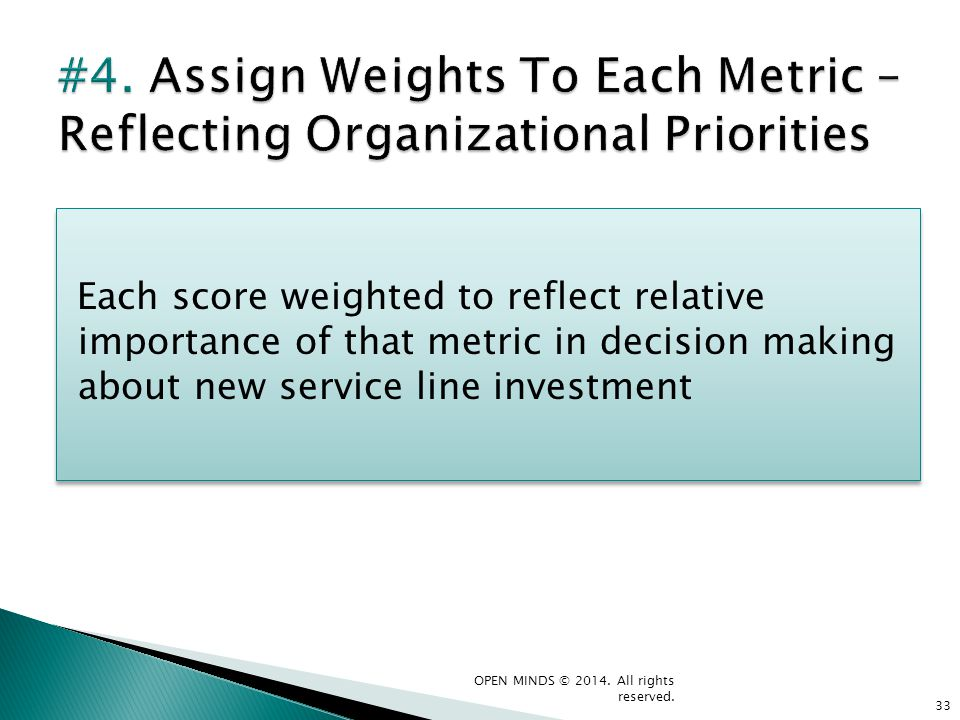 #4. Assign Weights To Each Metric – Reflecting Organizational Priorities