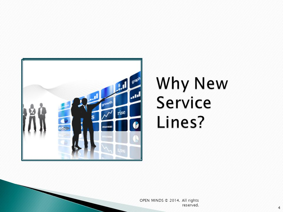 Why New Service Lines OPEN MINDS © 2014. All rights reserved.
