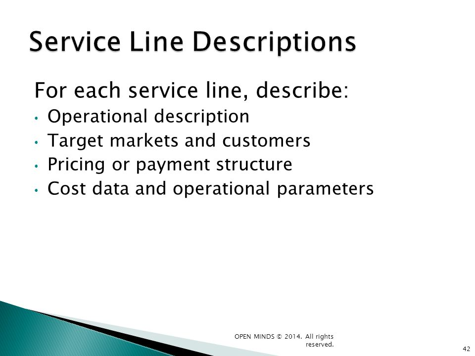 Service Line Descriptions