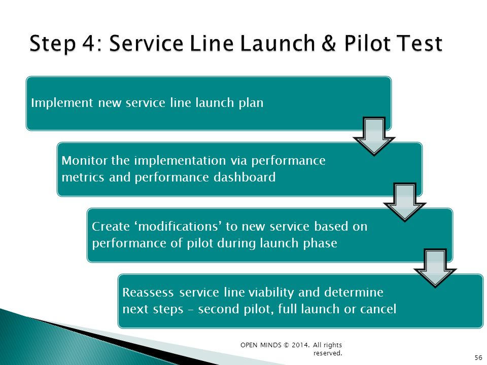 Step 4: Service Line Launch & Pilot Test