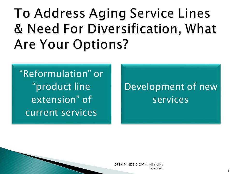 To Address Aging Service Lines & Need For Diversification, What Are Your Options