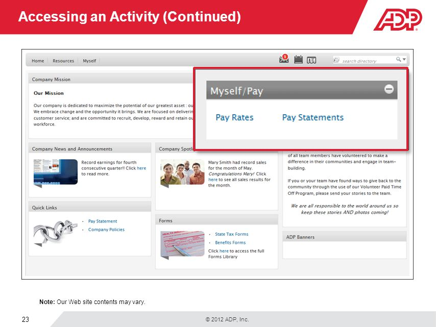 Accessing an Activity (Continued)