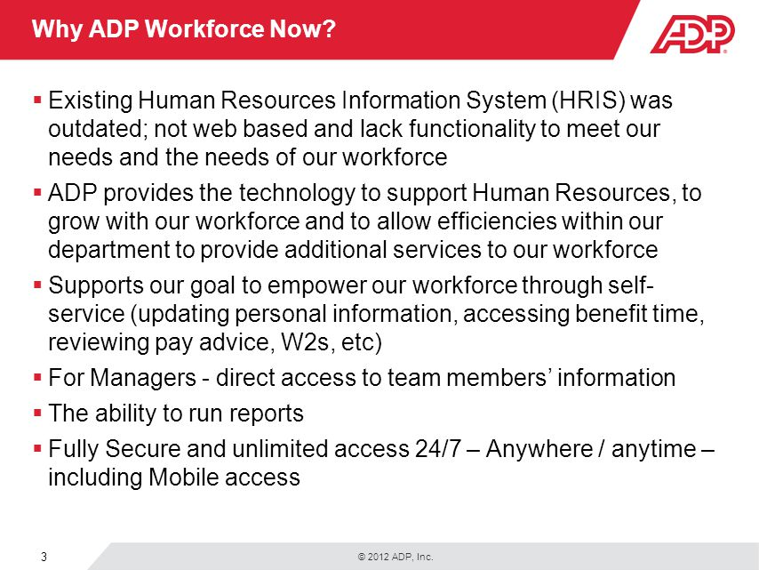 Why ADP Workforce Now