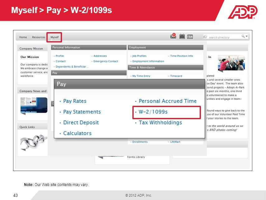 Myself > Pay > W-2/1099s