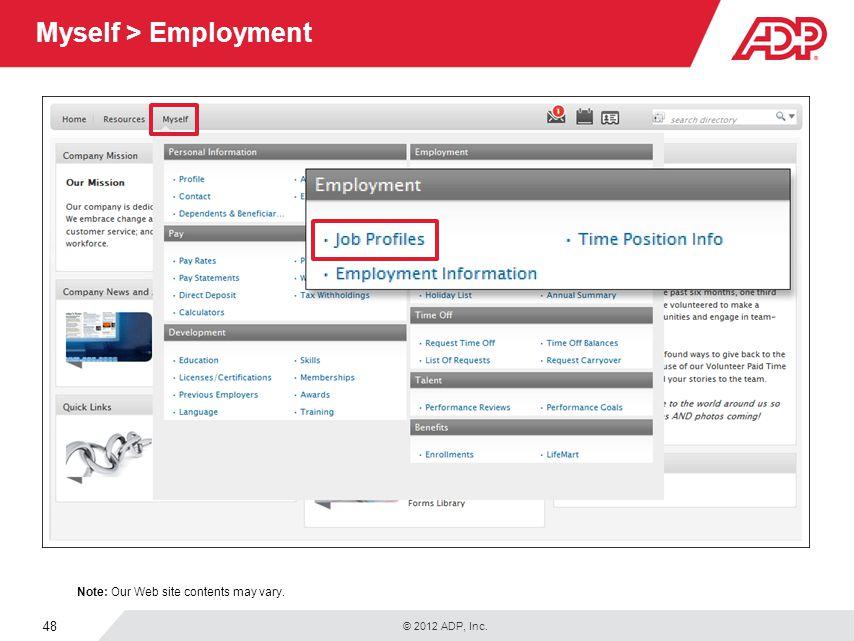 Myself > Employment