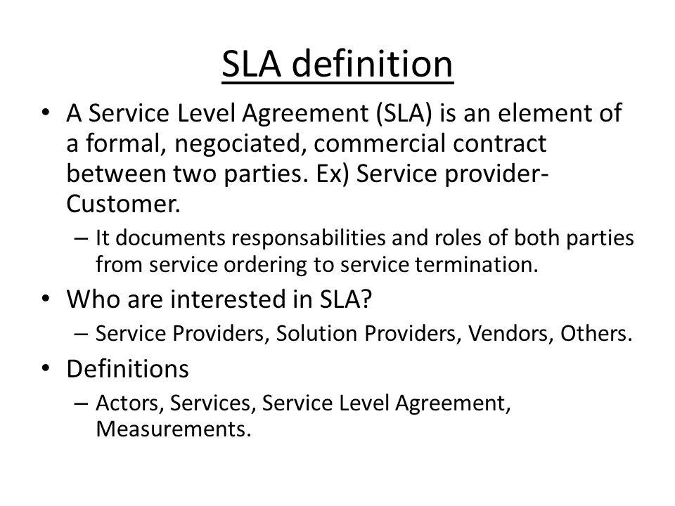 SLA definition