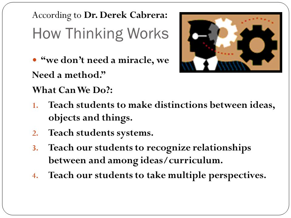 How Thinking Works According to Dr. Derek Cabrera:
