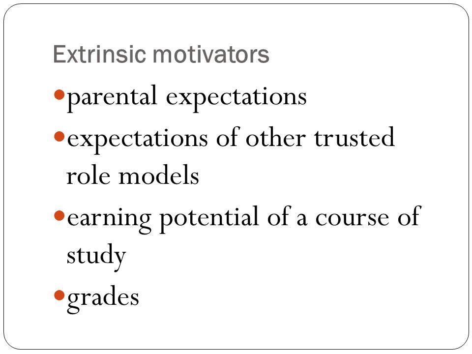 parental expectations expectations of other trusted role models