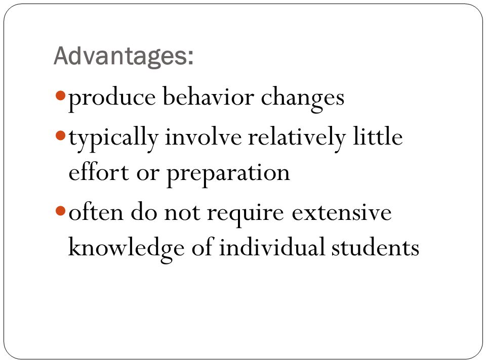 produce behavior changes