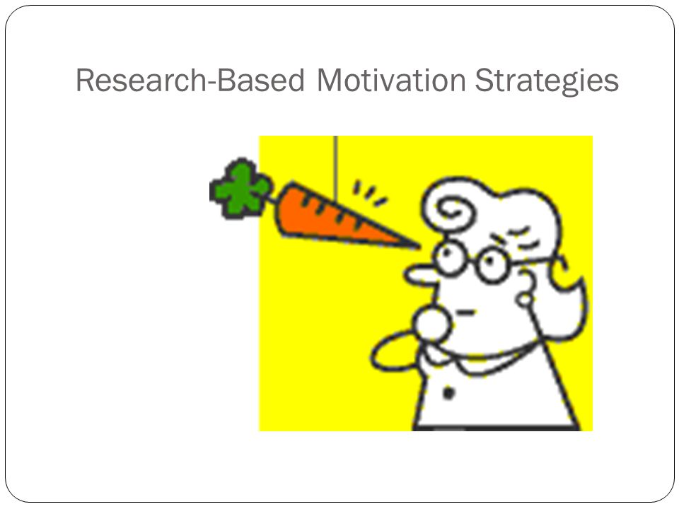 Research-Based Motivation Strategies