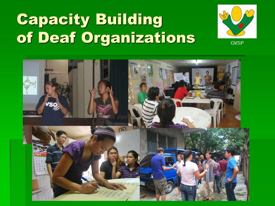 Capacity Building of Deaf Organizations
