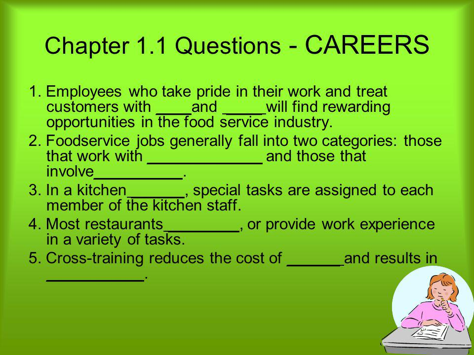 Chapter 1.1 Questions - CAREERS