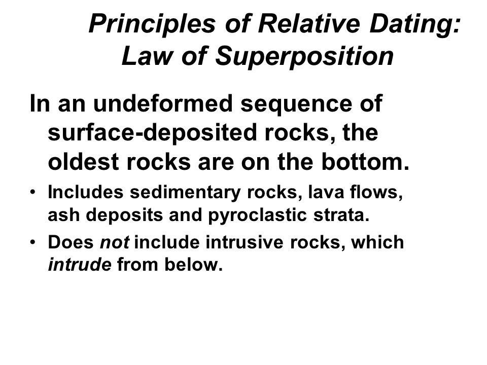 6 principles of relative-age dating