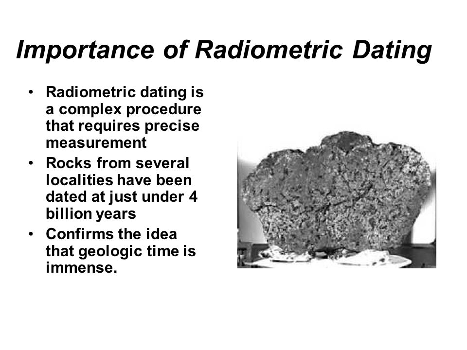 radiometric dating dictionary Radiocarbon dating: radioactive carbon decays to nitrogen with a half-life of 5730 years in dead material, the decayed 14c is not replaced and its concentration.