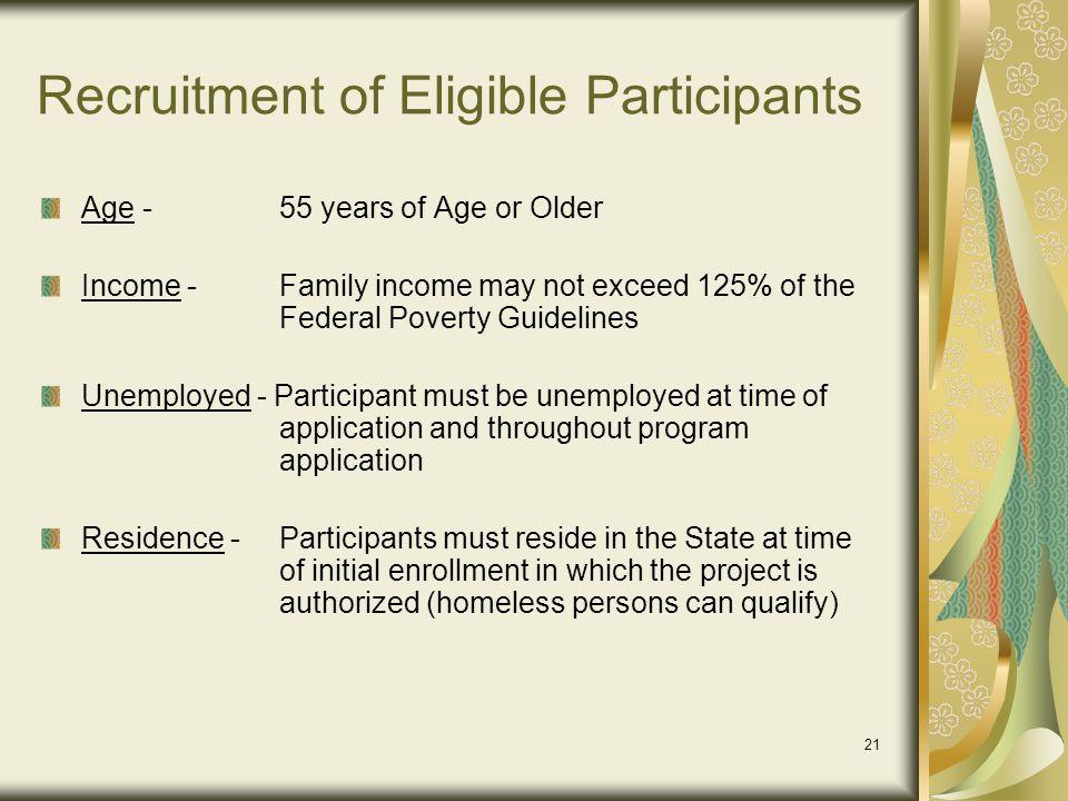 Recruitment of Eligible Participants