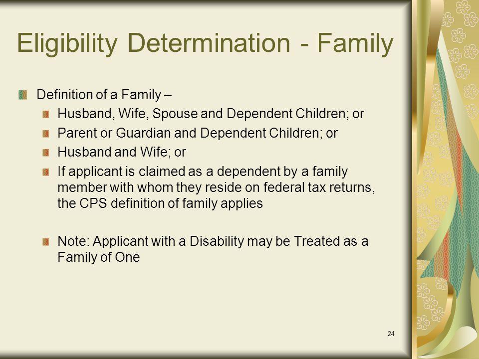 Eligibility Determination - Family