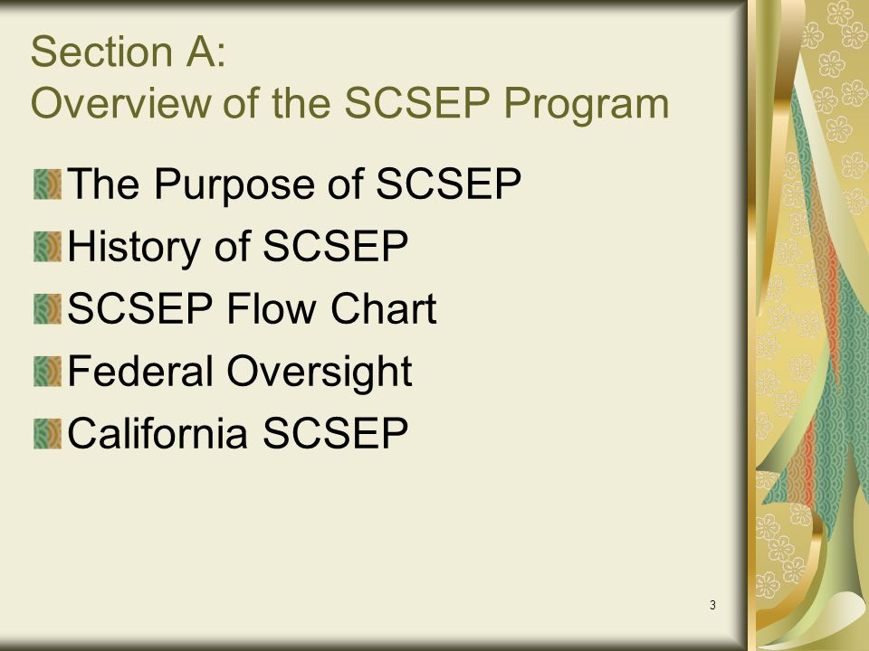 Section A: Overview of the SCSEP Program
