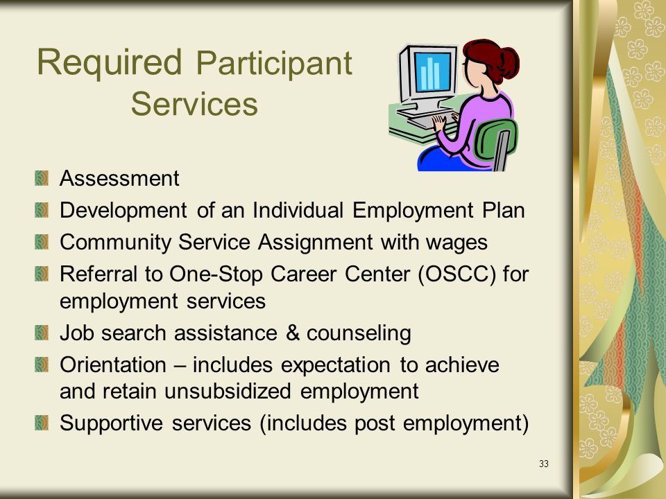 Required Participant Services
