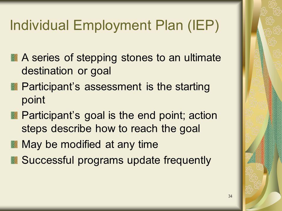 Individual Employment Plan (IEP)