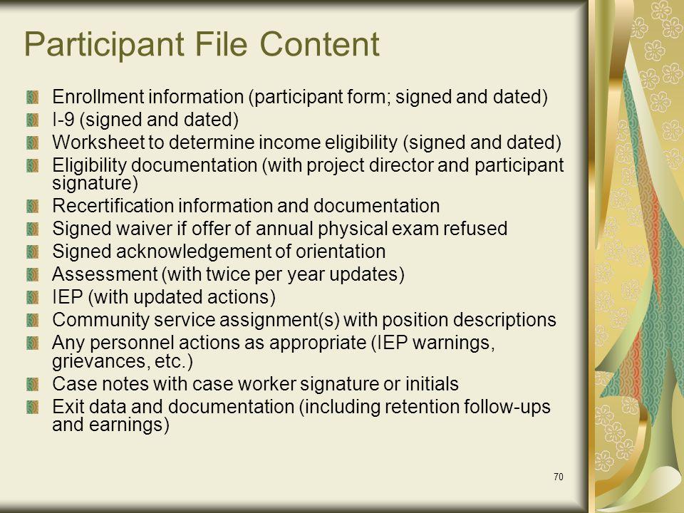 Participant File Content