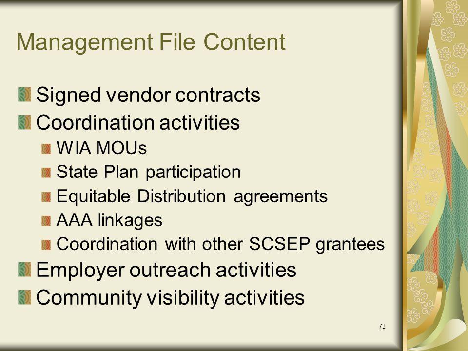 Management File Content