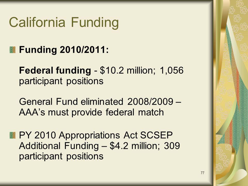 California Funding