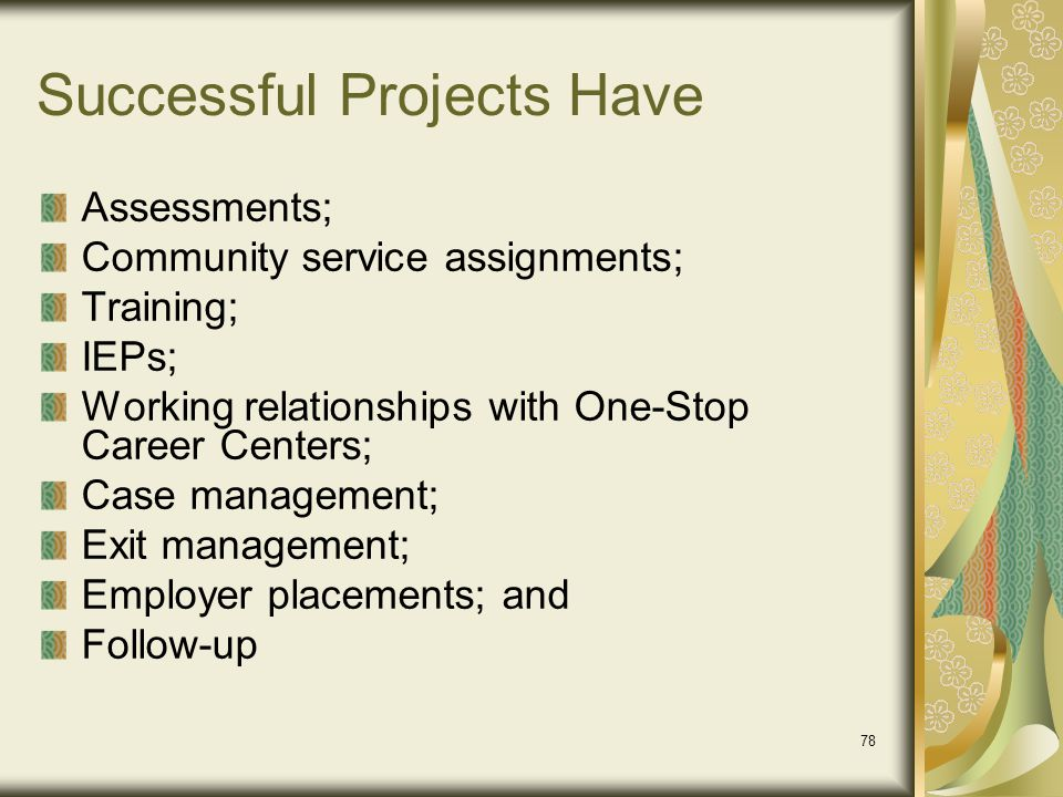 Successful Projects Have