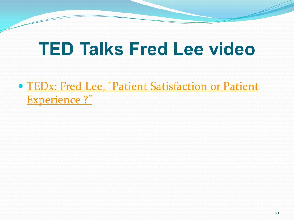 TED Talks Fred Lee video