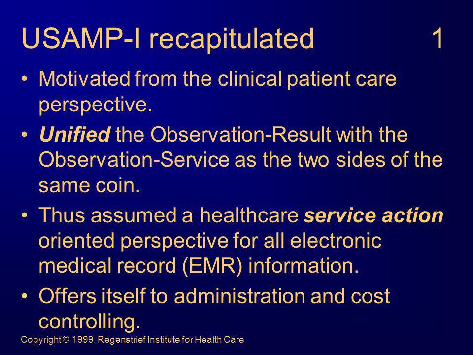 USAMP-I recapitulated 1