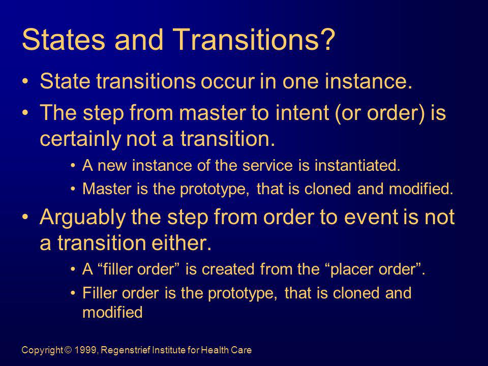 States and Transitions
