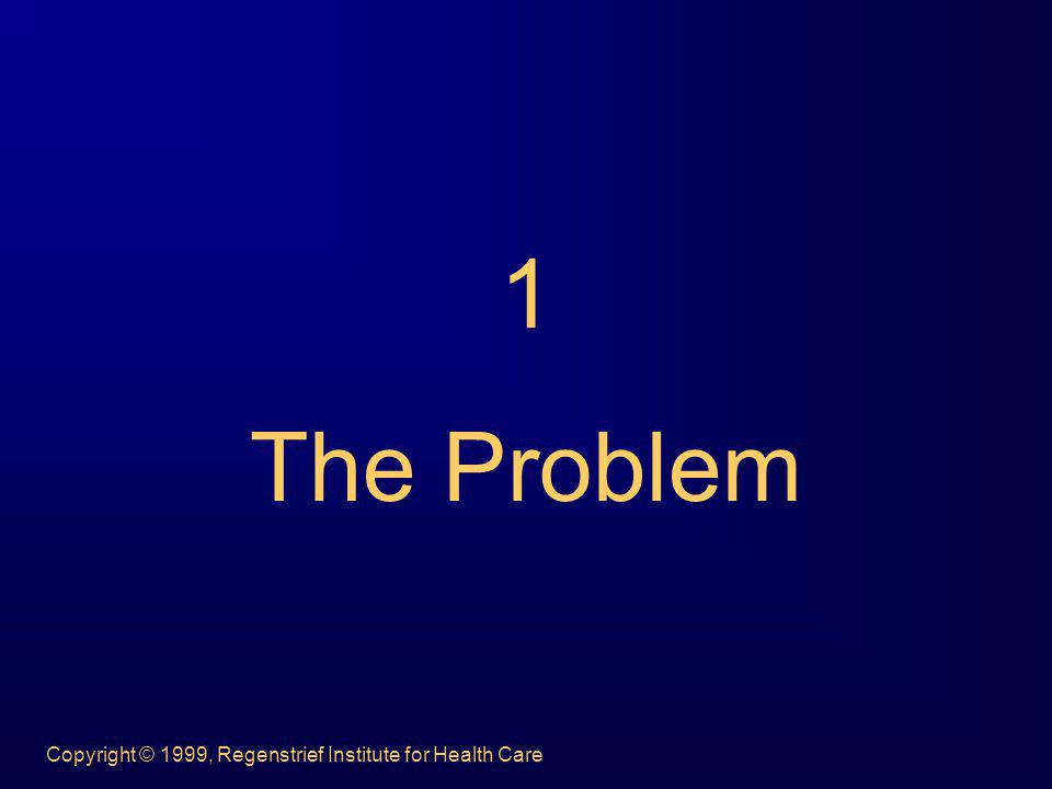 1 The Problem Copyright © 1999, Regenstrief Institute for Health Care