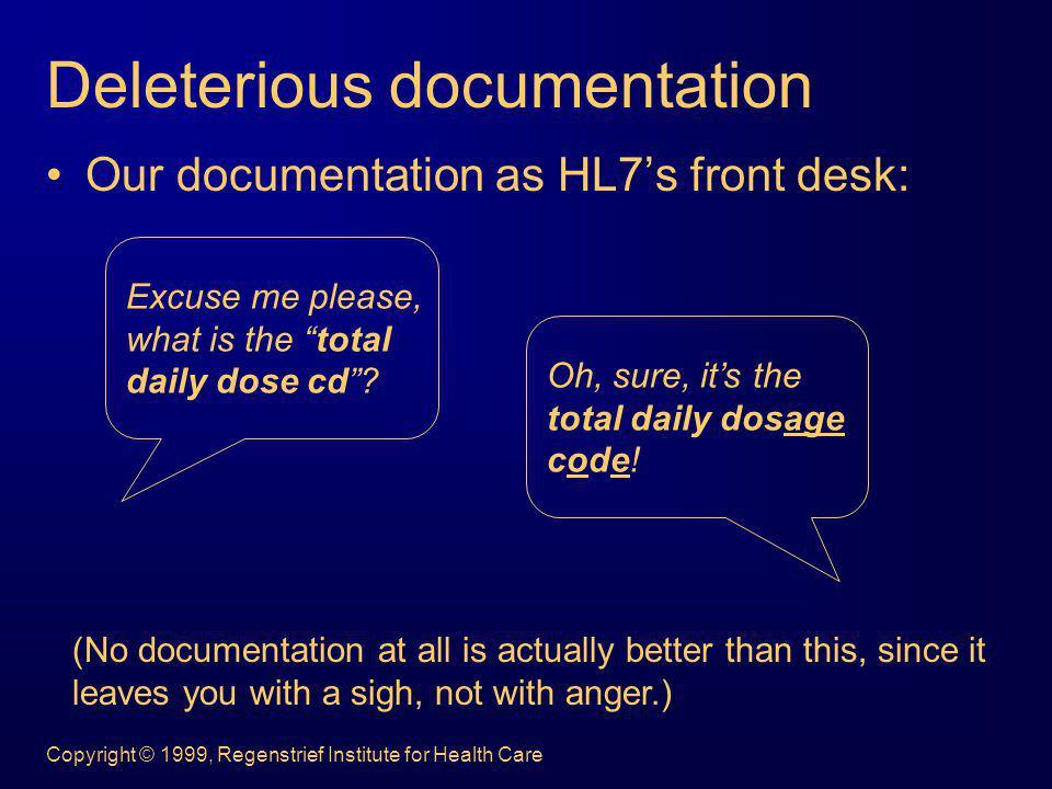 Deleterious documentation