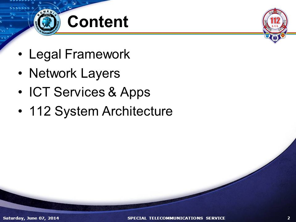 Content Legal Framework Network Layers ICT Services & Apps