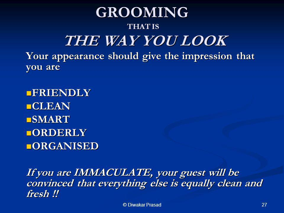 GROOMING THAT IS THE WAY YOU LOOK